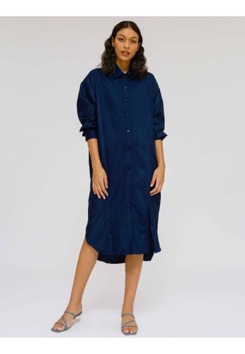 nona rona blue NONA RONA Adya Dress Navy B9198AA12D2E98GS_1