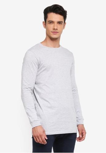 Factorie grey Long Sleeve Tall Tee 98F54AAC2E6D0FGS_1