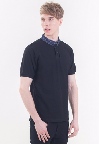 Drum navy Slim Fit Polo Shirt-BLK DR425AA84RITMY_1