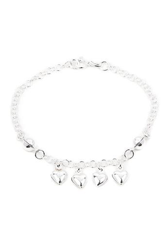 Silverworks Silver Heart Charms Bracelet Si696ac28hhjph 1