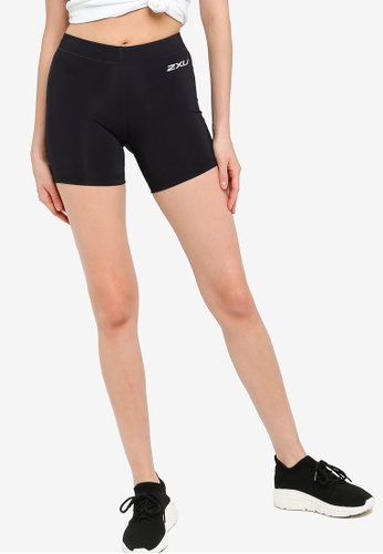 """2XU black Compression 5"""" Game Day Shorts C47FCAACF005FEGS_1"""