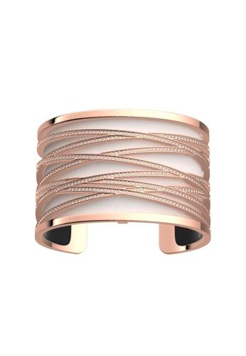 Les Georgettes by Altesse multi Les Georgettes Liens Rose Gold 40mm Bracelet Black & White leather FFEFCACFA3C381GS_1