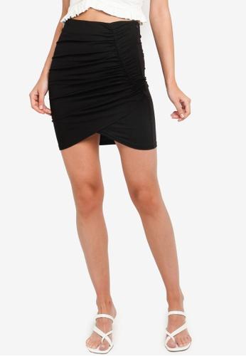 URBAN REVIVO black Pleated Mini Skirt 990ADAAFB5436DGS_1