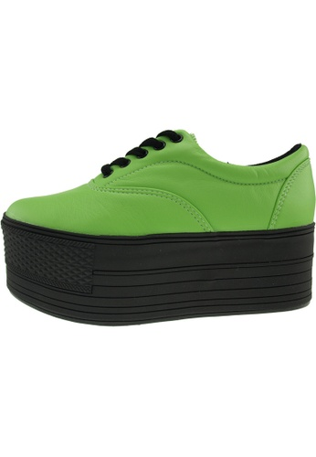 Maxstar 綠色 新款韩国鞋C60-5H-TC時尚皮革布混合女綠色 US Women Size MA345SH39HHCTW_1