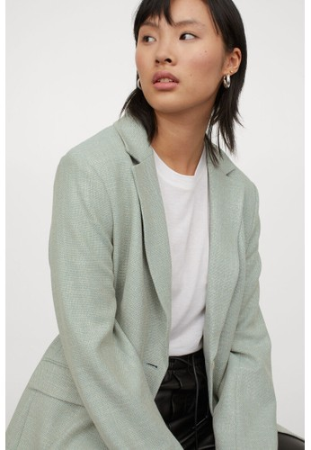 H&M green Fitted jacket A758EAAD878E7BGS_1