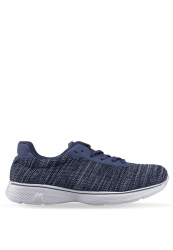 UniqTee blue Lightweight Lace Up Sport Shoes AF20ESH1B9C037GS_1