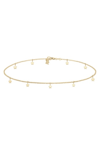 ELLI GERMANY gold Elli Germany Necklace Choker Chain Star Astro Look Basic 925 Sterling Silver Gold Plated 08AEFAC655C374GS_1