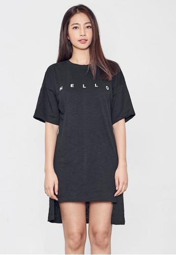 『哈羅』T 恤連身裙,esprit門市地址 服飾, 印花時代