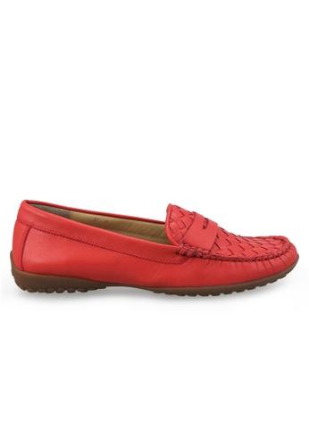 Shu Talk orange Nappa Breathable Loafer SH617SH2USE3HK_1