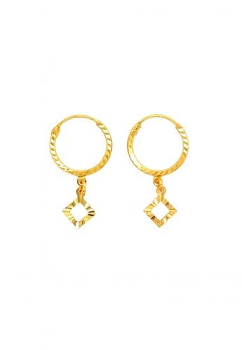 KARAT WORLD gold 18Kt Yellow Gold Earring 616A3AC92B8108GS_1