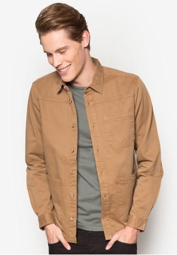 口袋長袖襯衫, 服飾,esprit hk store 服飾
