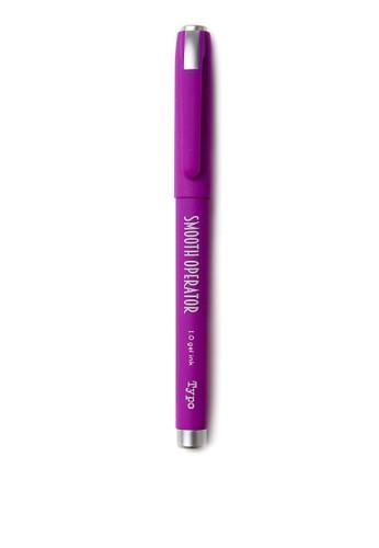 Typo purple Smooth Operator Gel Pen A32B8AC26A3E68GS_1