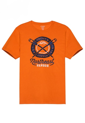 Chaps orange Chaps Jersey Graphic T-Shirt  CH325AA0SBW8MY_1