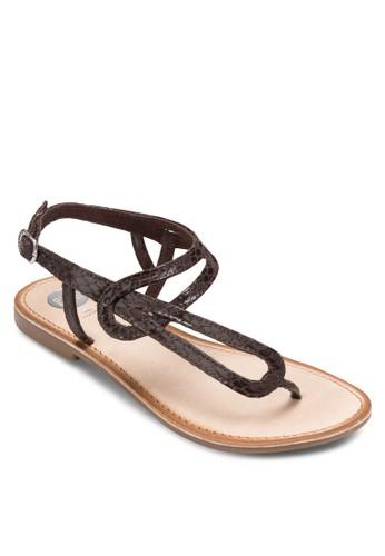 Rocheux 簡約esprit童裝門市夾趾涼鞋, 女鞋, 鞋