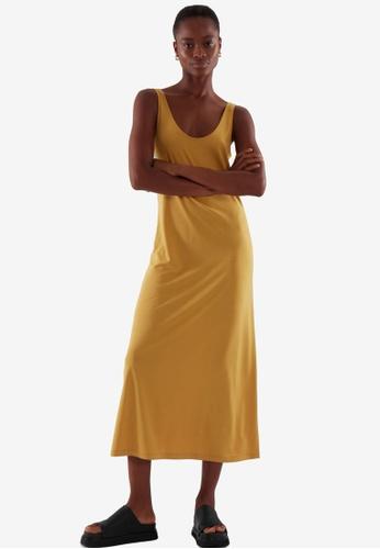 COS yellow Midi Slip Dress 300C3AA7480DA5GS_1