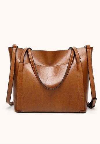 Halo brown Vintage Three Way Crossbody Bag BD551AC919E5CFGS_1