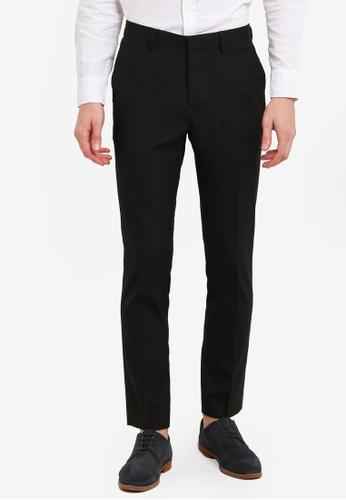 Topman black Black Skinny Fit Smart Trousers TO413AA0S002MY_1