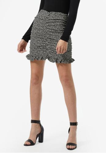 Dorothy Perkins black Black Spot Textured Mini Skirt 061ACAAD288ADDGS_1