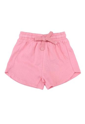 FOX Kids & Baby pink Plain Knit Shorts BDE17KA2C9B223GS_1