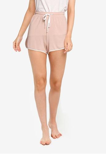 GAP pink Modal Tie Piping Shorts 6594CAA56CF40CGS_1