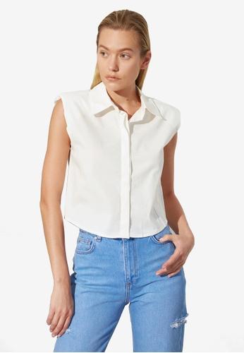 Trendyol white Basic Sleeveless Shirt 9B012AA9DFE43AGS_1
