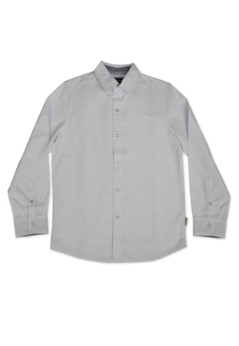 Grizzly white Grizzly Kids Long Sleeves Oxford Woven Polo 2717DKA3EC9C99GS_1
