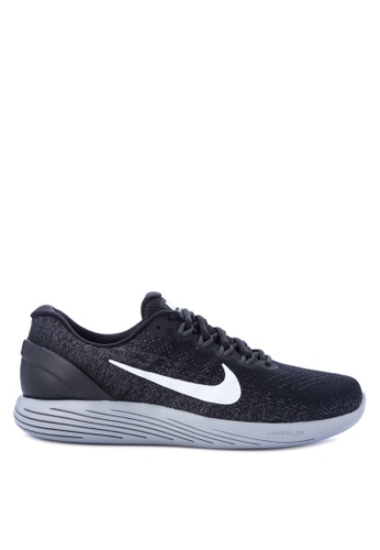 Nike black and grey Men's Nike Lunarglide 9 Running Shoes NI126SH0KPUSPH_1
