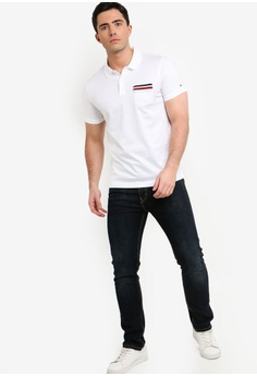 ee977353 30% OFF Tommy Hilfiger TIPPED POCKET SLIM POLO S$ 189.00 NOW S$ 132.30 Sizes  M L XL XXL