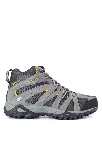 Columbia grey Grand Canyon Mid Outdry Men's Shoes   CO143SH0KCWJPH_1