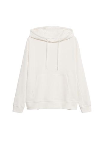 MANGO KIDS white Hoodie Cotton Sweatshirt 0637FKAA1650C2GS_1
