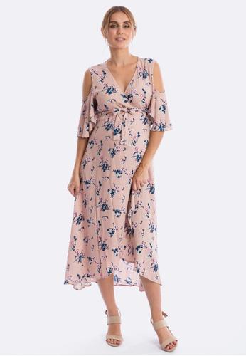 e3b7116a700d Buy Maive   Bo Aria Cold Shoulder Wrap Dress Online on ZALORA Singapore