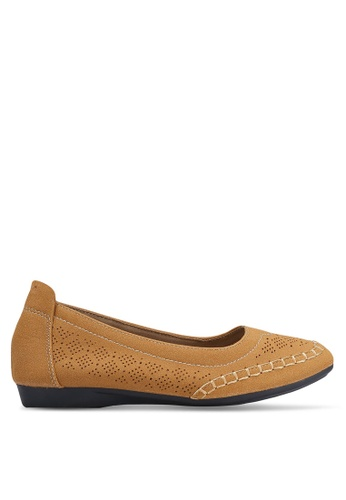 Louis Cuppers brown Perforated Flats LO977SH0RKBAMY_1