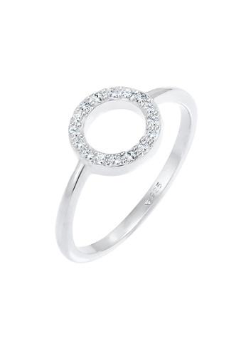 ELLI GERMANY white Ring Circle Crystals F1B31AC908FB87GS_1