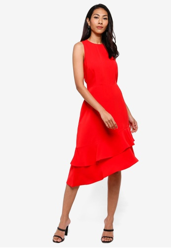 b80cff8901f Buy WAREHOUSE Int Tie Back Ruffle Dress Online on ZALORA Singapore