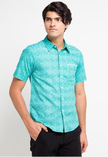 BRITANIA blue Short Sleeve Art Print Shirt BR202AA0V8Z0ID_1