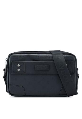 Playboy black Sling Bag EB5C8AC72F9144GS_1