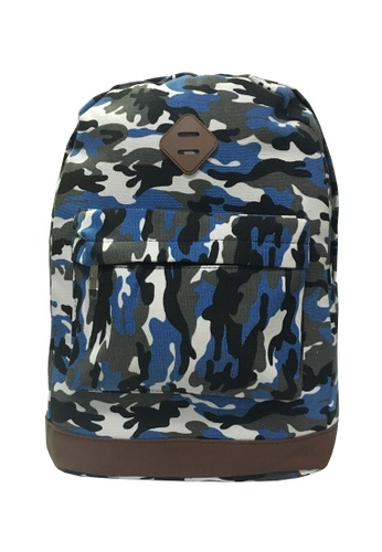 TCWK blue TCWK Multicolour Women Canvas Backpack D6DE6AC8E5F301GS_1