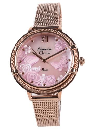 Alexandre Christie gold Alexandre Christie - Jam Tangan Wanita - Rosegold - Stainless Steel Bracelet - 2873LHBRGMD 804DCAC790D465GS_1