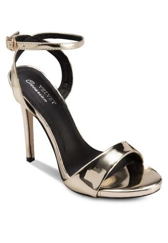Occaesprit hk storesion 繞踝高跟涼鞋, 女鞋, 鞋