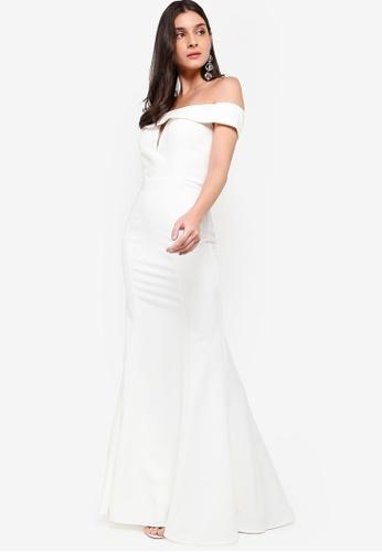 JARLO LONDON white Aja Dress A08EEAA128D92AGS_1