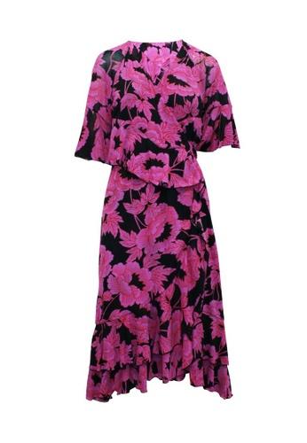 DIANE VON FURSTENBERG 粉紅色 diane von furstenberg 粉色印花長裹身連衣裙 8AE47AA175EAF1GS_1