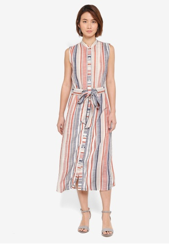 WAREHOUSE multi Multi Stripe Shirt Dress AF7DDAA7E8C687GS_1