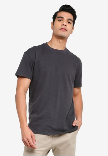 ABERCROMBIE & FITCH black Essential Crew T-Shirt 4D649AA7F53E96GS_1