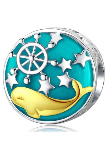 925 Signature 925 SIGNATURE Solid 925 Sterling Silver Captain Dolphin Charm 0DBD9ACF16F538GS_1
