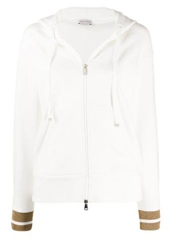 Moncler white Moncler Macro Logo Jacket in White A26A7AA82A9936GS_1
