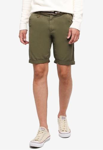 Indicode Jeans 褐色 休閒腰帶短褲 9A7A5AAF559145GS_1