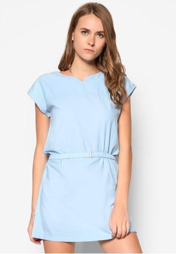 假腰帶棉質連身裙,mango taiwan目錄 服飾, 洋裝
