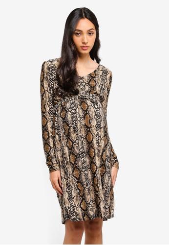 9e7d953cec2 Shop Mama.licious Maternity Snake Jersey Dress Online on ZALORA Philippines