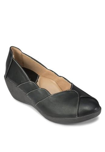 拼接厚底休閒鞋, esprit鞋子女鞋, 楔形鞋