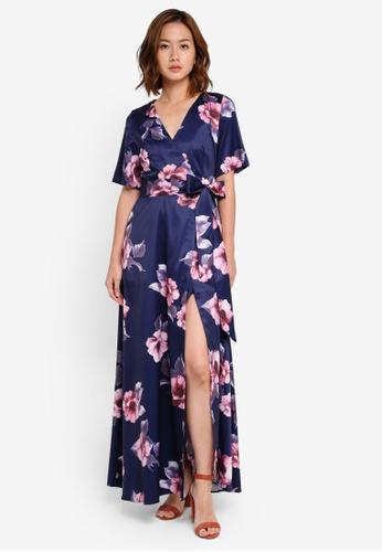 Megane navy Red Romance Angilia Maxi Dress ME617AA0SZWMMY_1